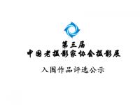 第三届中国老摄影家协会摄影展入围作品评选公示