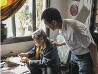 潘炳岩主席、杨昌忠名誉副主席看望彭邦卿主席  与贵州省老年摄影